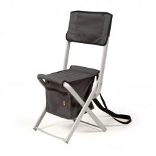 Алюмінієвий розкладний стілець зі спинкою «Кенгуру»