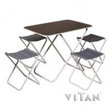 """Комплект розкладний стіл з 4-ма стільцями з алюмінієвим каркасом """"Пікнік""""."""