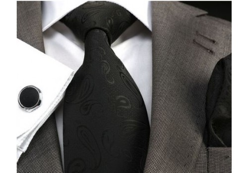 Чорна краватка з малюнком