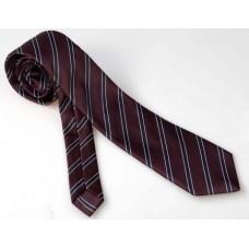 Темна смугаста краватка в наборі