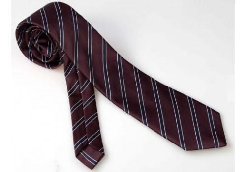 Темный полосатый галстук в наборе