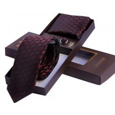 Темный галстук  с геометрическим рисунком