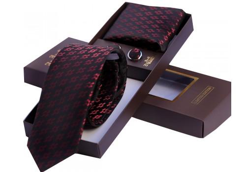 Темна краватка з геометричним малюнком