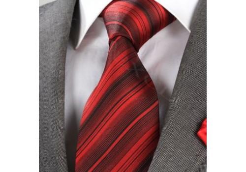 Эффектный красный галстук в подарочном наборе