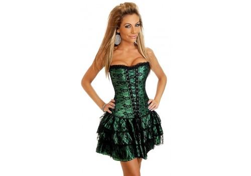 Сукня корсетного типу роздільне (корсет + спідниця) червоне, чорне, зелене, фіолетове
