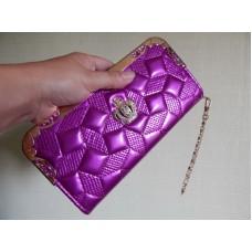 Кошелек-клатч пурпурный