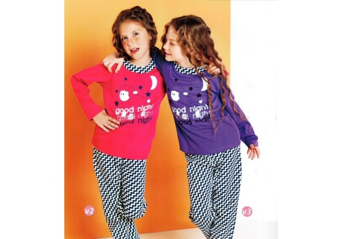 Пижама для девочки «Пестрая»