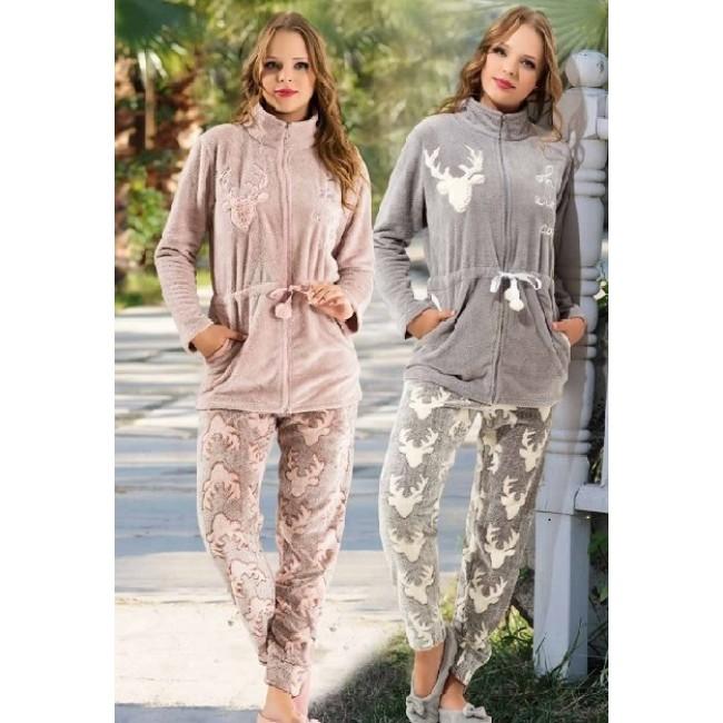 Купити домашній теплий костюм з оленями. StyleRoyal. 81764f78cbdfc