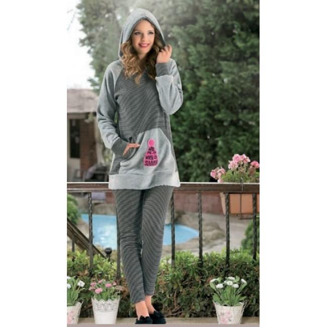Купити домашній костюм смугастий з капюшоном. StyleRoyal. 416dbc4549b3d