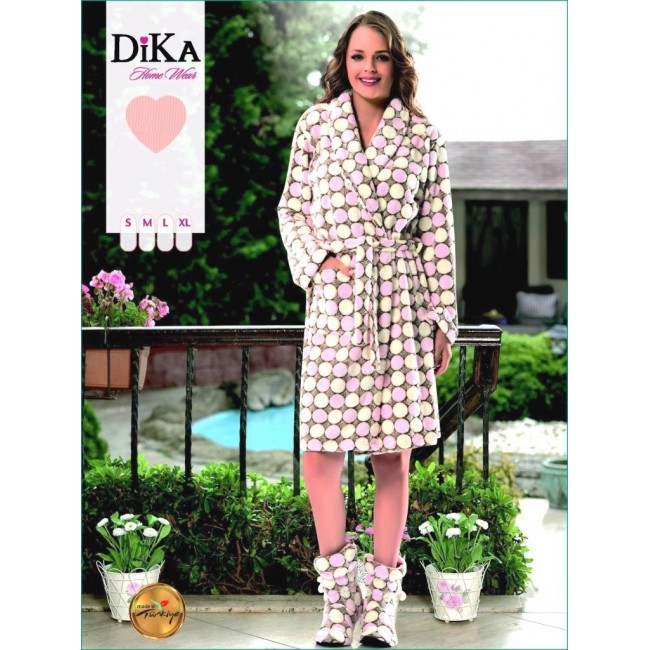 Купити жіночий халат «Горох». StyleRoyal. 55c67e5b14667