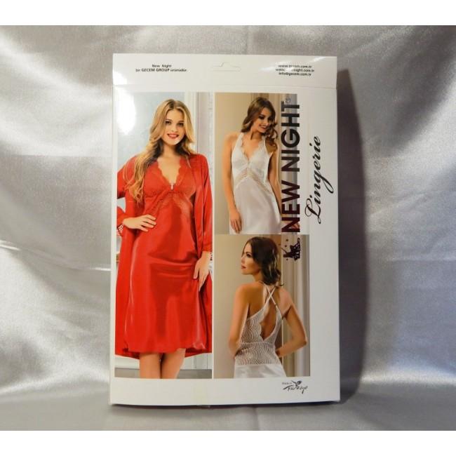 Купити довгий пеньюар в комплекті з колекції NEW NIGHT Lingerie від ... 6e78836a73f67