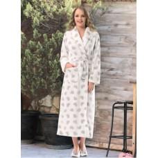 Длинный пушистый женский халат