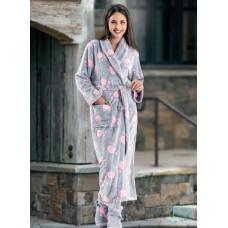 Жіночий довгий халат «Лапки»