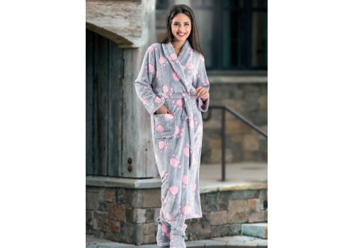 Женский длинный халат «Лапки»