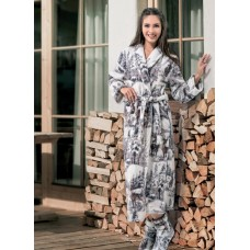 Женский длинный халат «Лапландия»