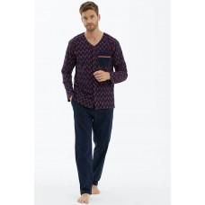 Мужская пижама с пуговицами