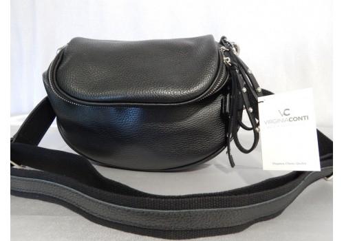 Шкіряна жіноча сумка крос-боді