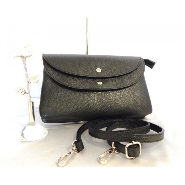 508414054fba Купить черный кожаный клатч Virginia Conti. StyleRoyal.