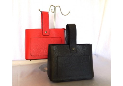 Стильна шкіряна сумка з нестандартним дизайном