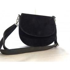 Замшевая сумка конверт жесткой формы