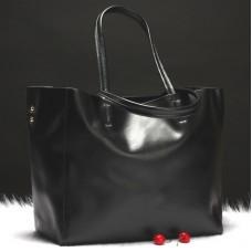 Кожаная сумка шопер