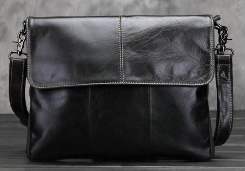 Стильна шкіряна сумка вінтажного стилю