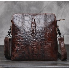 Ультра-модная кожаная сумка с крокодилом