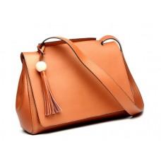 Кожаная женская сумка с клапаном