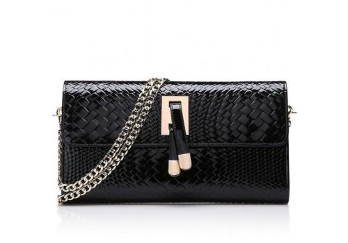 Жіноча сумка з лакованої натуральної шкіри