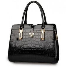 Жіноча каркасна лакована сумка