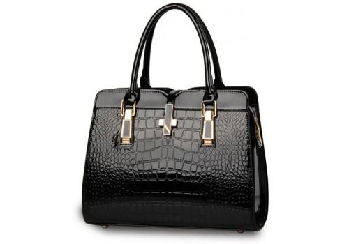 Женская каркасная лакированная сумка