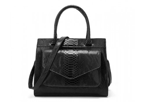 Жіноча сумка з тисненням під рептилію