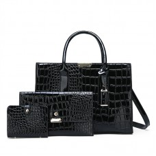 Лакована сумка «Елегант» в наборі з трьох одиниць