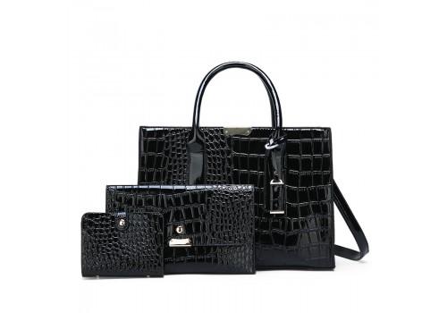 Лакированная сумка «Элегант» в наборе из трех единиц