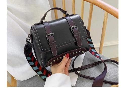 Дизайнерская сумочка «Милано-2» на широком цветном ремне
