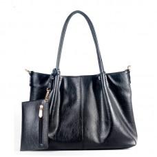 Большая сумка шопер с кошельком-декором
