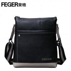 Кожаная мужская сумка с оригинальным дизайном