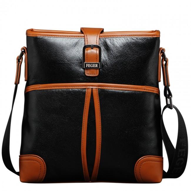 Купити стильну чоловічу шкіряну сумку на плече форми планшет. StyleRoyal e505ceb9dea4c