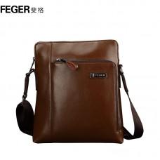 Чоловіча шкіряна сумка на плече, коричнева