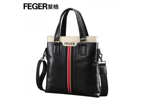 Стильнашкіряна сумка, чорна на плече з ручками
