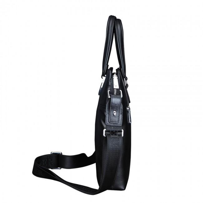 Купити шкіряну сумку для ноутбука Feger чорну bc53774ba0cbb