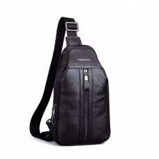 Новый слинго-рюкзак из натуральной кожи