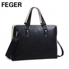 Велика шкіряна сумка FEGER
