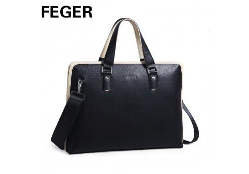Большая кожаная сумка FEGER