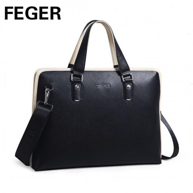 Купити велику шкіряну сумку FEGER. StyleRoyal. a1a9554c92921
