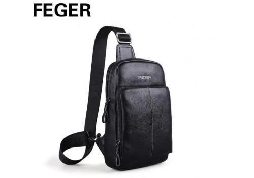 Слинго-рюкзак из натуральной кожи