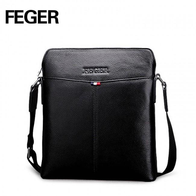 Купити чоловічу сумка Feger з натуральної шкіри. StyleRoyal. 7c2122162eeaa