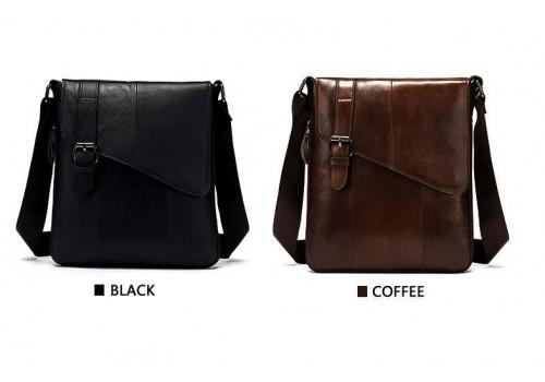 Кожаная мужская сумка формы планшет