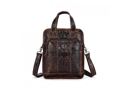 Вместительная мужская кожаная сумка