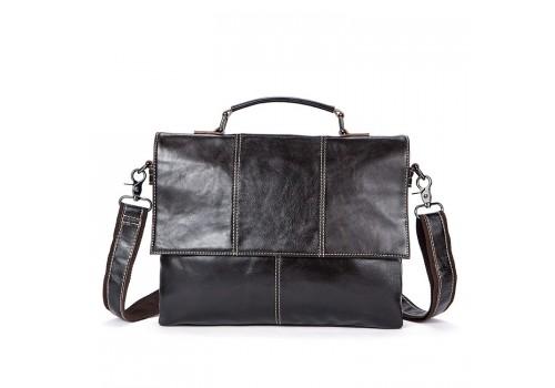 Кожаная мужская сумка  портфель